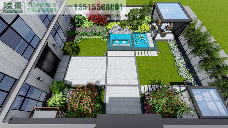 兰考永旺城·安纳伯格庄园别墅庭院设计案例
