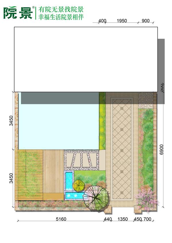 郑州惠济区天伦庄园别墅庭院设计案例