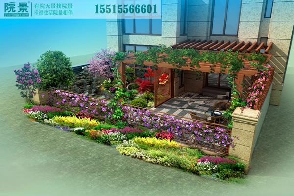 郑州银河丹堤洋房花园设计案例