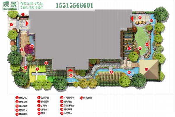 郑州橄榄城5号院别墅花园设计